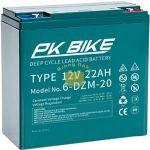 PK Bike 12V 22Ah  elektromos bicikli akkumulátor