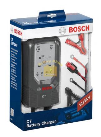 BOSCH C7 12/24V 7A akkumulátor töltő
