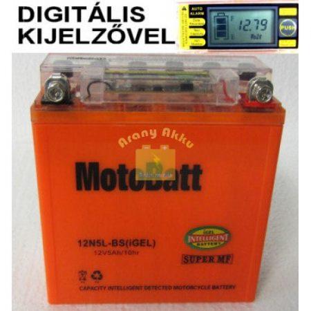 Motobatt Bike bull DS-I GEL 12V 5Ah 12N5L-BS motor akkumulátor