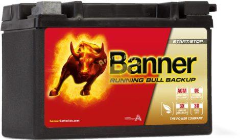 BANNER Running Bull Back Up 12V 12Ah 200A bal+