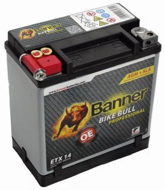 Banner Bike bull AGM Professional 12V 12Ah  ETX 14
