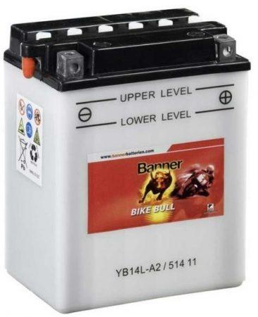 Banner BIKE bull 12V 14Ah  YB14-A2 motor akkumulátor