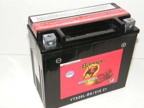 Banner Bike bull AGM 12V 18Ah  YTX20L-BS motor akkumulátor