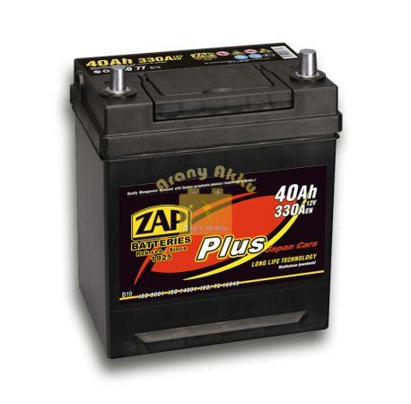 Zap Plus  40Ah 330A Jobb+ Japán vékony saru