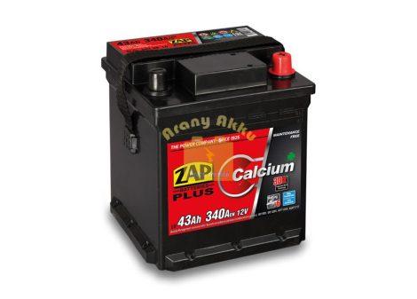 ZAP Plus 43Ah 340A jobb+