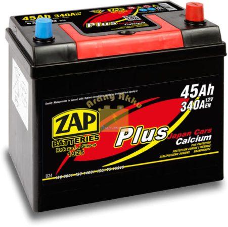 ZAP Plus 45Ah 340A Jobb+ Japán