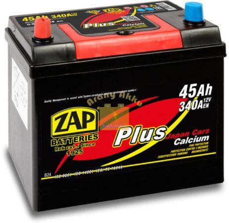 ZAP Plus 45Ah 340A Bal+ Japán