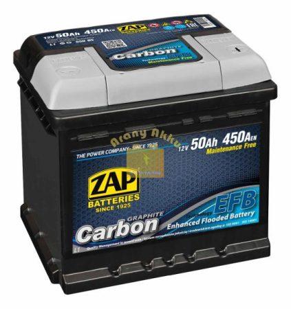 ZAP Carbon EFB Start-Stop 50Ah 450A Jobb+