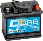 DAB Autó akkumulátor 12V 55Ah 470A