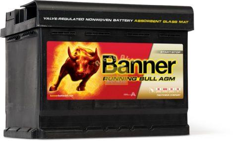 BANNER Running Bull AGM 12V 60Ah 640A akkumulátor