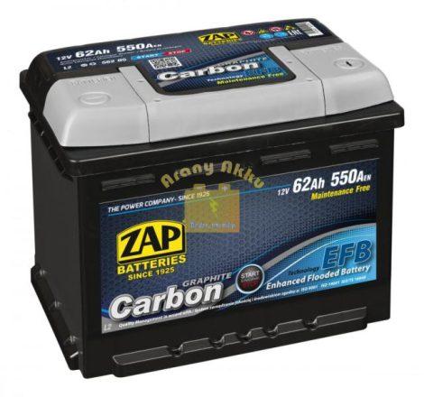 ZAP Carbon EFB 62Ah 550A Jobb+
