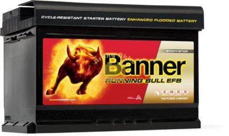 BANNER Running Bull EFB 12V 65Ah 650A akkumulátor
