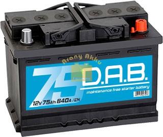 DAB Autó akkumulátor 12V 75 Ah 640A