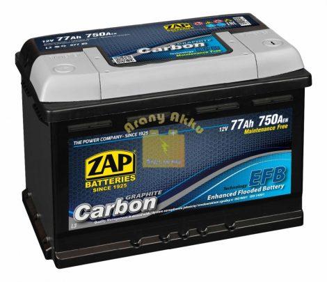 ZAP Carbon EFB Start-Stop 77Ah 750A Jobb+