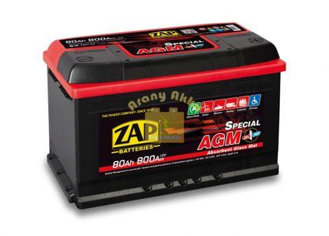 ZAP AGM 80Ah 800A STAR-STOP Jobb+