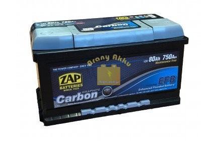 ZAP Carbon EFB Start-Stop 80Ah 750A Jobb+