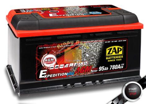 ZAP AGM 95Ah 780A START-STOP Jobb+