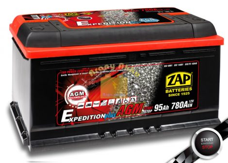 ZAP AGM 95Ah 850A START-STOP Jobb+