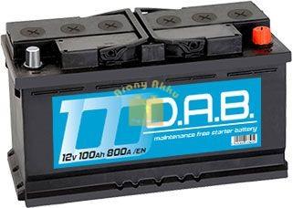 DAB Autó akkumulátor 12V 100Ah 800A