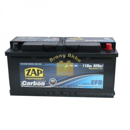 ZAP Carbon EFB Start-Stop 110Ah 920A Jobb+