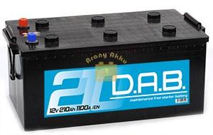 DAB Teherautó akkumulátor 12V 210Ah 1100A