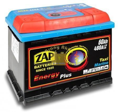Zap Munka akkumulátor 12V 60Ah 480A Jobb+ Zap Energy Plus (95607)