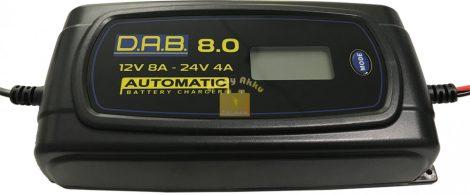 DAB 8.0 A automata 12/24V akkumulátor töltő