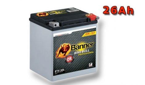 Banner Bike bull AGM Professional 12V 26Ah  ETX 30L motor akkumulátor