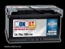 Monbat Start-Stop (AGM) 12V 70 Ah 760A