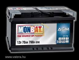 Monbat Start-Stop (AGM) 12V 80 Ah 840A
