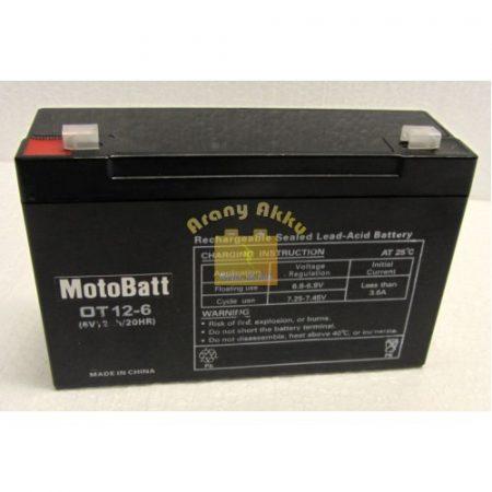 Motobatt UPS 6V 12Ah akkumulátor