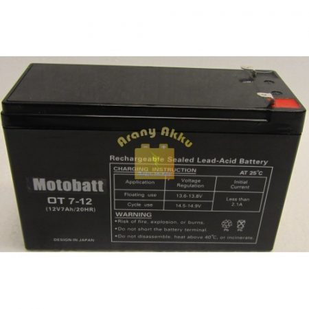 Motobatt UPS 12V 7,0Ah akkumulátor