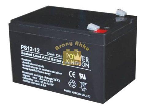 Power Kingdom 12V 12Ah VRLA riasztó/szünetmentes akkumulátor