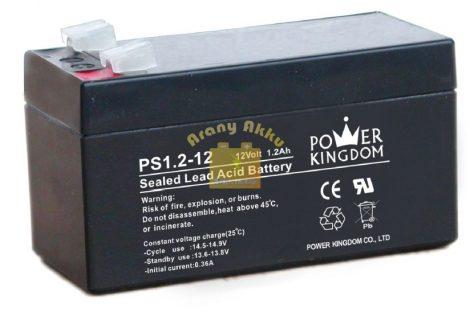 Power Kingdom 12V 1,2Ah VRLA riasztó/szünetmentes akkumulátor