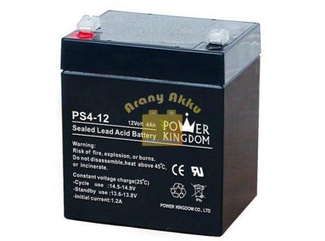 Power Kingdom 12V 4Ah VRLA riasztó/szünetmentes akkumulátor