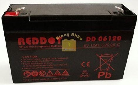 Power Kingdom 6V 12Ah VRLA riasztó/szünetmentes akkumulátor