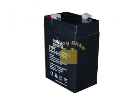Power Kingdom 6V 4Ah VRLA riasztó/szünetmentes akkumulátor