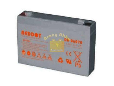 6V 7Ah VRLA riasztó/szünetmentes akkumulátor