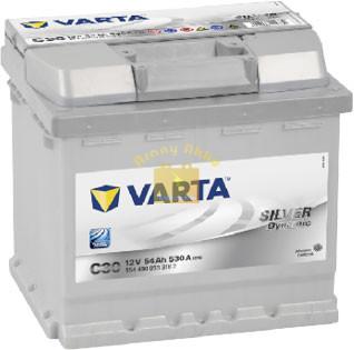 VARTA C30 Silver Dynamic 54Ah 530A Jobb+ (554 400 053) akkumulátor