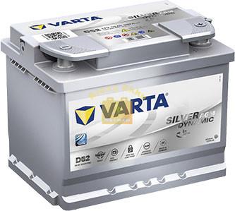 VARTA D52 Silver Dynamic AGM 60Ah 680A Jobb+ (560 901 068) akkumulátor