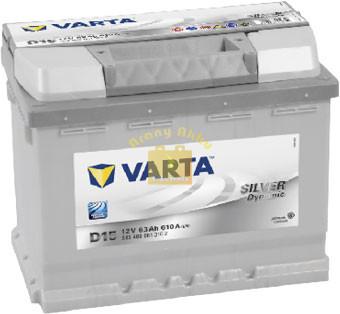 VARTA D15 Silver Dynamic 63Ah 610A Jobb+ (563 400 061) akkumulátor