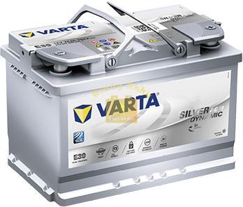 VARTA E39 Silver Dynamic AGM 70Ah 760A Jobb+ (570 901 076) akkumulátor