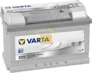 VARTA E38 Silver Dynamic 74Ah EN 750A Jobb+ (574 402 075)