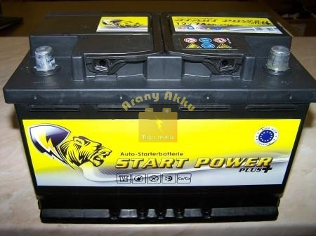 Start Power AGM Start-Stop 80Ah 760A Jobb+