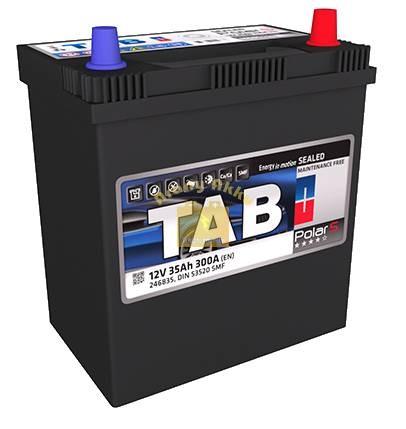 TAB Polar S autó akkumulátor 12V 35Ah 300A Asia Jobb+