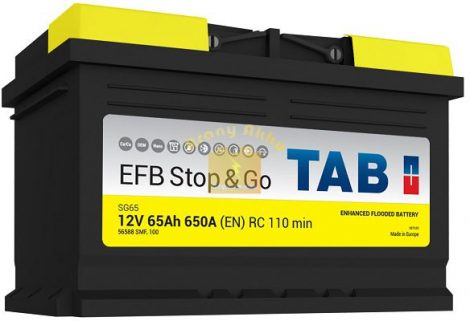 TAB Stop & Go EFB 65 Ah 650A