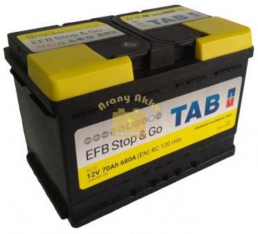 TAB Stop & Go EFB 70 Ah 680A