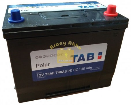 TAB Polar 75 Ah 740A Asia J+ akkumulátor