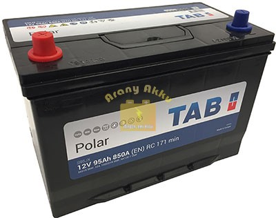 TAB Polar 95Ah 850A Asia B+ akkumulátor