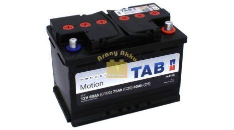 TAB Motion Pasted TAB60P 12V 85/75/60Ah Jobb+ munka akkumulátor